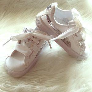 Little Girls Puma Sneakers